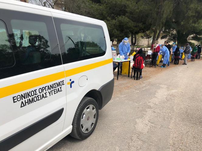 Διεξαγωγή rapid test στην Κοινότητα Αγίου Γεωργίου Λιβαδειάς